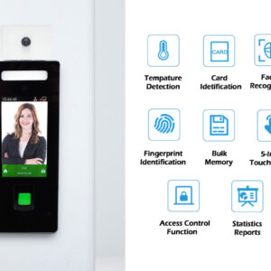 Wall Mounted Face recognition and Fingerprint Temperature checker SIFROBOT-7.84