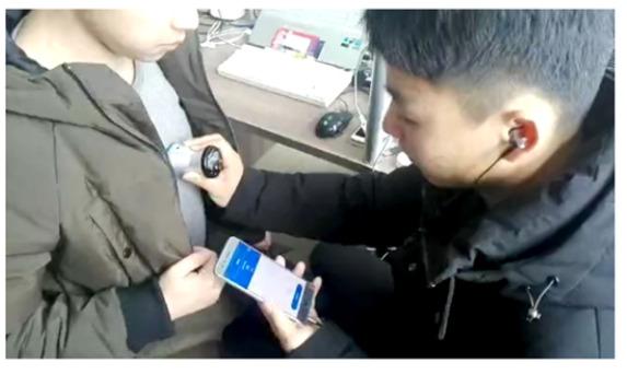 Bluetooth FDA Cardio Pulmonary Stethoscope SIFSTETHO-1.0 in use
