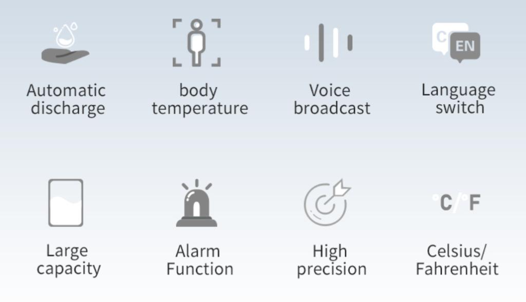 Hand Sanitizer Dispenser and Temperature checker SIFCLEANTEMP-1.5