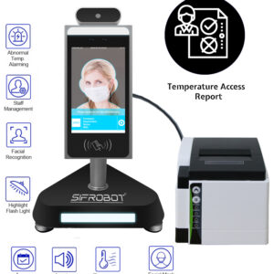 SIFROBOT-7.3 Temperature checker + Hand sanitizer dispenser + Printer