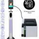 SIFROBOT-7.74 temperature checker hand sanitizer dispenser + Printer
