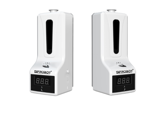 Temperature Detector and hand Sanitizer Dispenser SIFCLEANTEMP-1.5 Front view