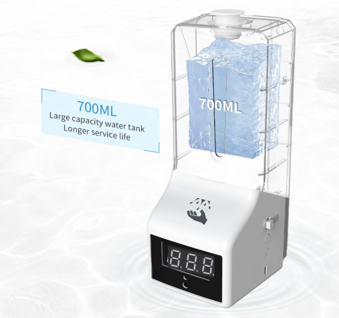 Temperature checker and hand sanitizer dispenser with Large capacity water tank